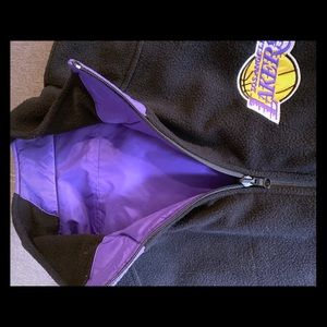 Lakers XXL fleece windbreaker reversible vest